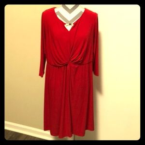 NY Collection Dress Stretch Red EUC Size 1X
